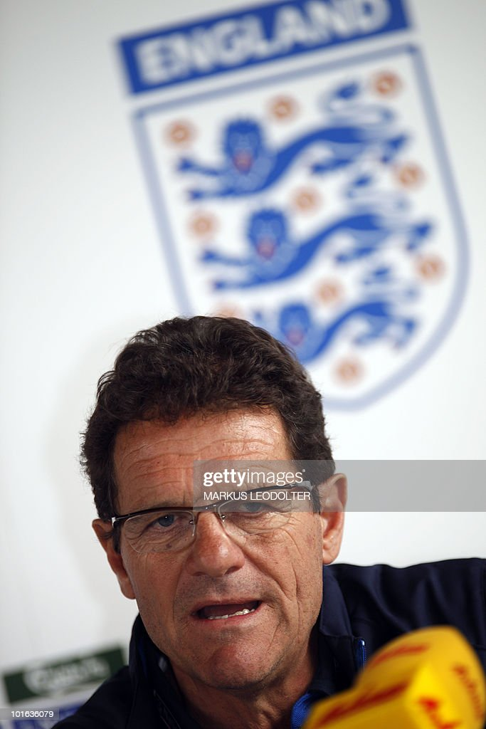 Fabio Capello, trainer of England´s national football team speaks during a press conference in Irdning, Austria on 29. May 2010. Some of England's biggest stars may feel on trial this weekend as Fabio Capello's team play their final World Cup warm-up match against Japan just 48 hours before the squad is cut to the final 23 who will go to South Africa.