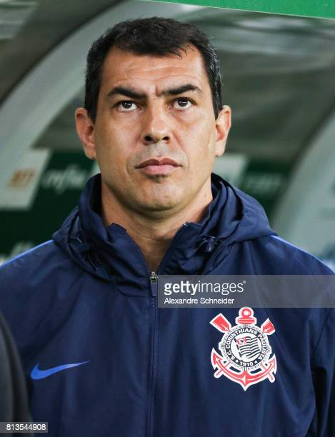 Fabio Carille head coach of Corinthians in action during the match between Palmeiras and Corinthians for the Brasileirao Series A 2017 at Allianz...