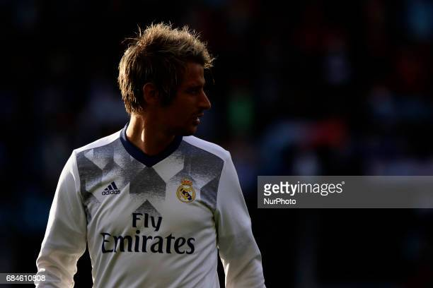 Fabio Coentrao defender of Real Madrid during the La Liga Santander match between Celta de Vigo and Real Madrid at Balaidos Stadium on May 17 2017 in...