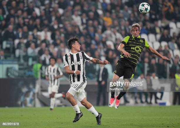 Fabio Coentrao during Champions League match between Juventus and Sporting Clube de Portugal in Turin on October 17 2017
