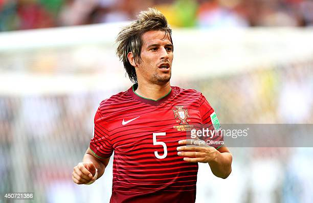 Fabio Coentrao of Portugal during the 2014 FIFA World Cup Brazil Group G match between Germany and Portugal at Arena Fonte Nova on June 16 2014 in...