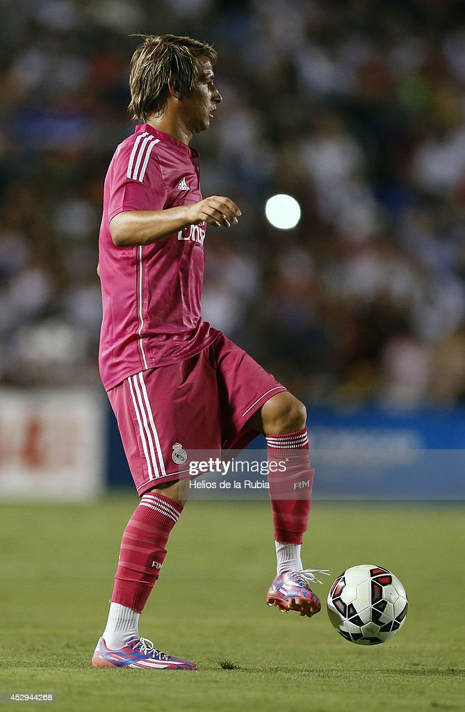 Fabio Coentrao of Real Madrid during a Guinness International Champions Cup 2014 game at Cotton Bowl on July 29, 2014 in Dallas, Texas.