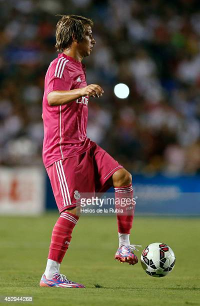 Fabio Coentrao of Real Madrid during a Guinness International Champions Cup 2014 game at Cotton Bowl on July 29 2014 in Dallas Texas