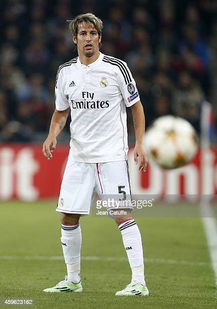 Fabio Coentrao of Real Madrid in action during the UEFA Champions League Group B match between FC Basel 1893 and Real Madrid CF at St JakobPark...