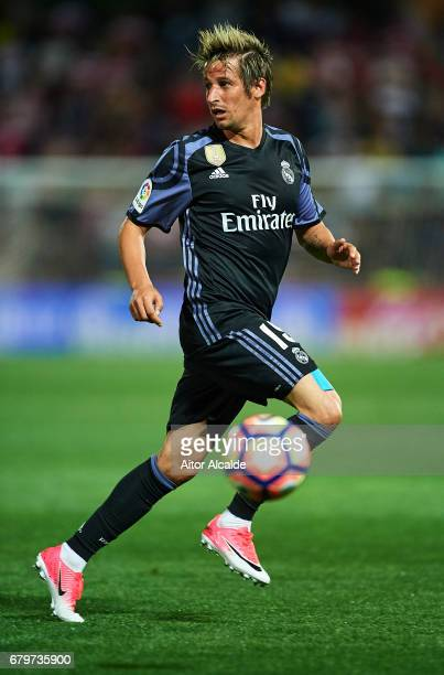 Fabio Contra of Real Madrid CF in action during the La Liga match between Granada CF v Real Madrid CF at Estadio Nuevo Los Carmenes on May 6 2017 in...