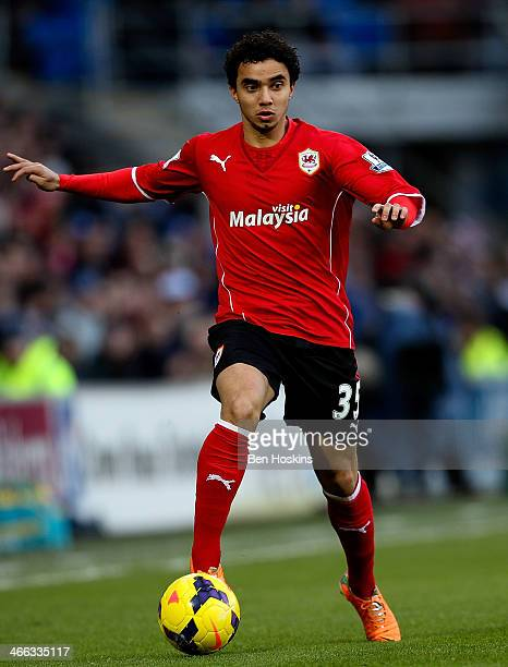 Fabio da Silva of Cardiff in action during the Barclays Premier League match between Cardiff City and Norwich City at Cardiff City Stadium on...