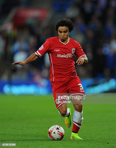 Fabio Da Silva of Cardiff in action during the Sky Bet Championship match between Cardiff City and Wigan Athletic at Cardiff City Stadium on August...