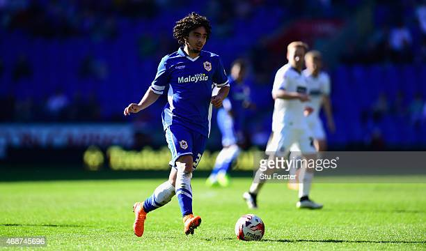 Fabio Da Silva of Cardiff in action during the Sky Bet Championship match between Cardiff City and Bolton Wanderers at Cardiff City Stadium on April...
