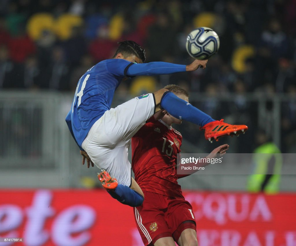 Fabio De Paoli of Italy U21 in action during the international friendly match between Italy U21 and Russia U21 on November 14, 2017 in Frosinone, Italy.