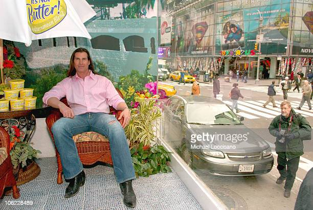 Fabio during Fabio Launches 'I Can't Believe It's Not Butter' Mediterranean Blend at Times Square in New York City New York United States