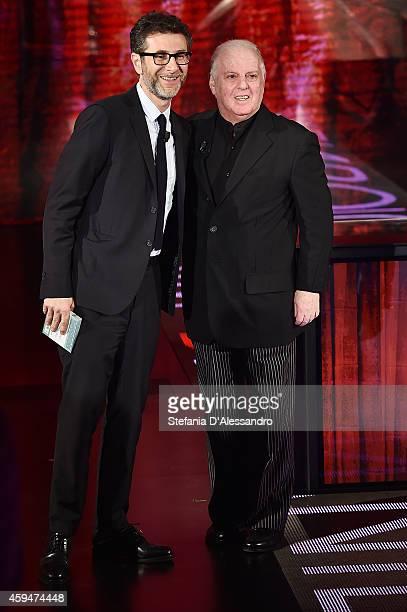 Fabio Fazio and Daniel Barenboim attend 'Che Tempo Che Fa' TV Show on November 23 2014 in Milan Italy