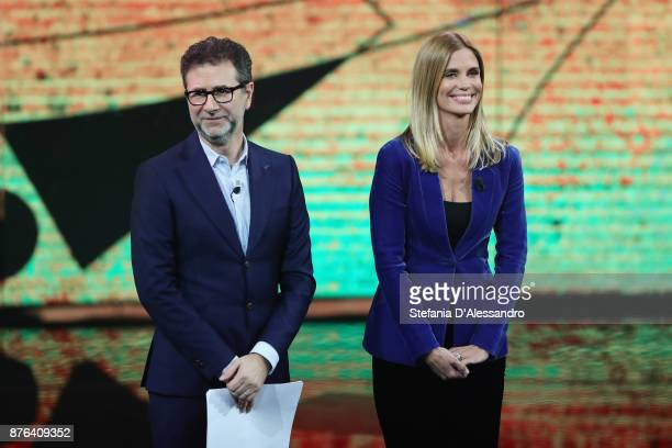 Fabio Fazio and Filippa Lagerback attend 'Che Tempo Che Fa' Tv Show at Rai Milan Studios on November 19 2017 in Milan Italy