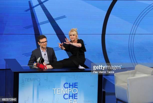 Fabio Fazio and Luciana Littizzetto attend 'Che Tempo Che Fa' TV show on June 4 2017 in Milan Italy