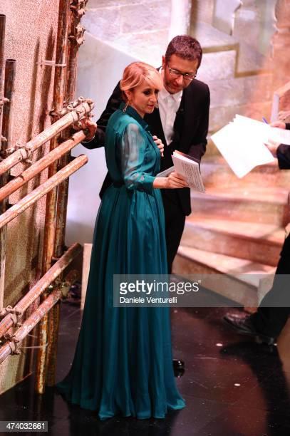 Fabio Fazio and Luciana Littizzetto attend fourth night of the 64th Festival di Sanremo 2014 at Teatro Ariston on February 21 2014 in Sanremo Italy