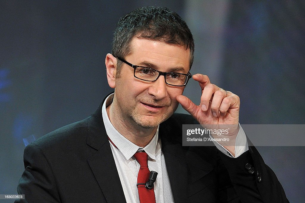 Fabio Fazio attends 'Che Tempo Che Fa' Italian TV Show on March 3, 2013 in Milan, Italy.
