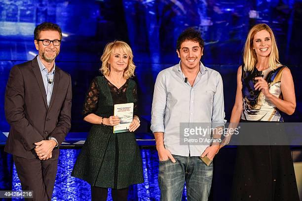 Fabio Fazio Luciana Littizzetto Marco Marsullo Filippa Lagerback attends 'Che Tempo Che Fa' Tv Show on October 25 2015 in Milan Italy