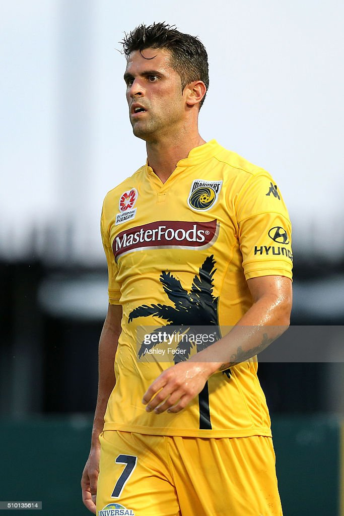 Fabio Ferreira of the Mariners looks on during the round 19 A-League match between the Central Coast Mariners and Adelaide United at Central Coast Stadium on February 14, 2016 in Gosford, Australia.