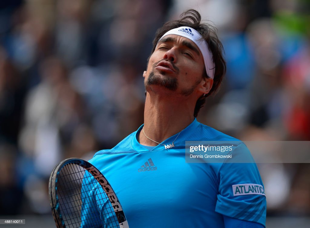 <a gi-track='captionPersonalityLinkClicked' href=/galleries/search?phrase=Fabio+Fognini&family=editorial&specificpeople=656601 ng-click='$event.stopPropagation()'>Fabio Fognini</a> of Italy shows his frustration during the final against Martin Klizan of Slovakia during the BMW Open on May 4, 2014 in Munich, Germany.