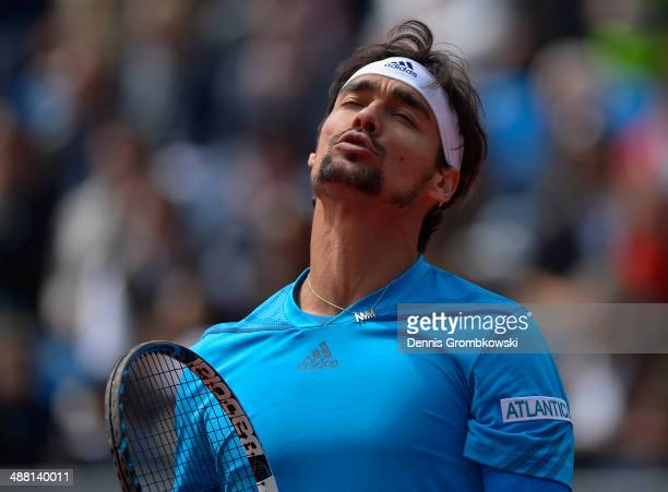 Fabio Fognini of Italy shows his frustration during the final against Martin Klizan of Slovakia during the BMW Open on May 4 2014 in Munich Germany