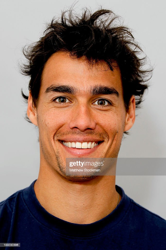 Fabio Fognini poses for a headshot at Roland Garros on May 22, 2010 in Paris, France.