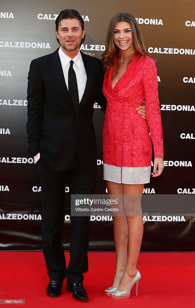 Fabio Fulco and Cristina Chiabotto attend Calzedonia Summer Show Forever Together on April 16, 2013 in Rimini, Italy.