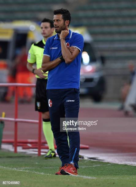 Fabio Grosso head coach of AS Bari during the TIM Cup match between AS Bari and Parma Calcio at Stadio San Nicola on August 6 2017 in Bari Italy