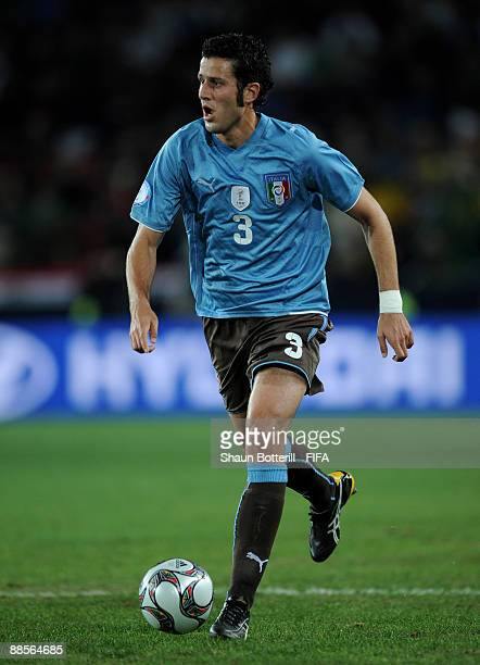 Fabio Grosso of Italy during the FIFA Confederations Cup match between Egypt and Italy at Ellis Park Stadium on June 18 2009 in Johannesburg South...