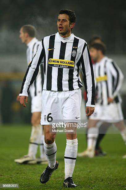 Fabio Grosso of Juventus during the Juventus v AC Milan Serie A match at the Stadio Olimpico di Torino on January 10 2010 in Turin Italy