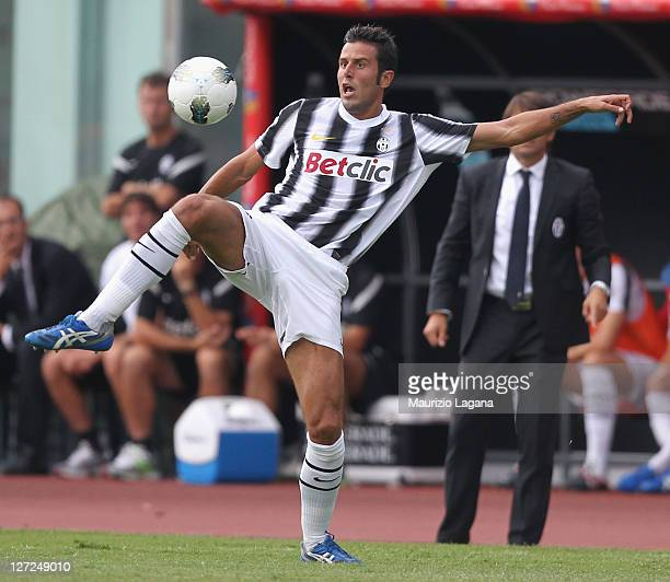 Fabio Grosso of Juventus during the Serie A match between Catania Calcio and Juventus FC at Stadio Angelo Massimino on September 25 2011 in Catania...