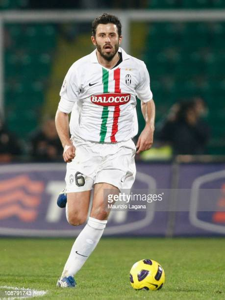 Fabio Grosso of Juventus in action during the Serie A match between US Citta di Palermo and Juventus FC at Stadio Renzo Barbera on February 2 2011 in...