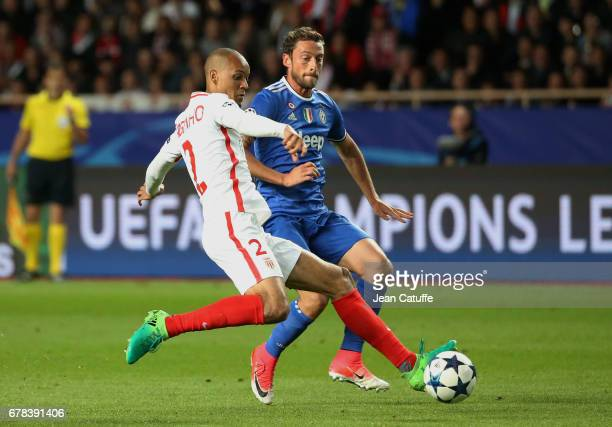 Fabio Henrique Tavares aka Fabinho of Monaco and Claudio Marchisio of Juventus in action during the UEFA Champions League semi final first leg match...