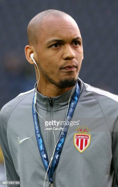 Fabio Henrique Tavares aka Fabinho of Monaco looks on while arriving at the stadium before the later postponed UEFA Champions League Quarter Final...
