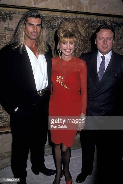 Fabio Ivana Trump and Riccardo Mazzucchelli during 'A Novel Affair' Fundraiser for Muscular Dystrophy October 25 1993 at Trump Towers in New York...