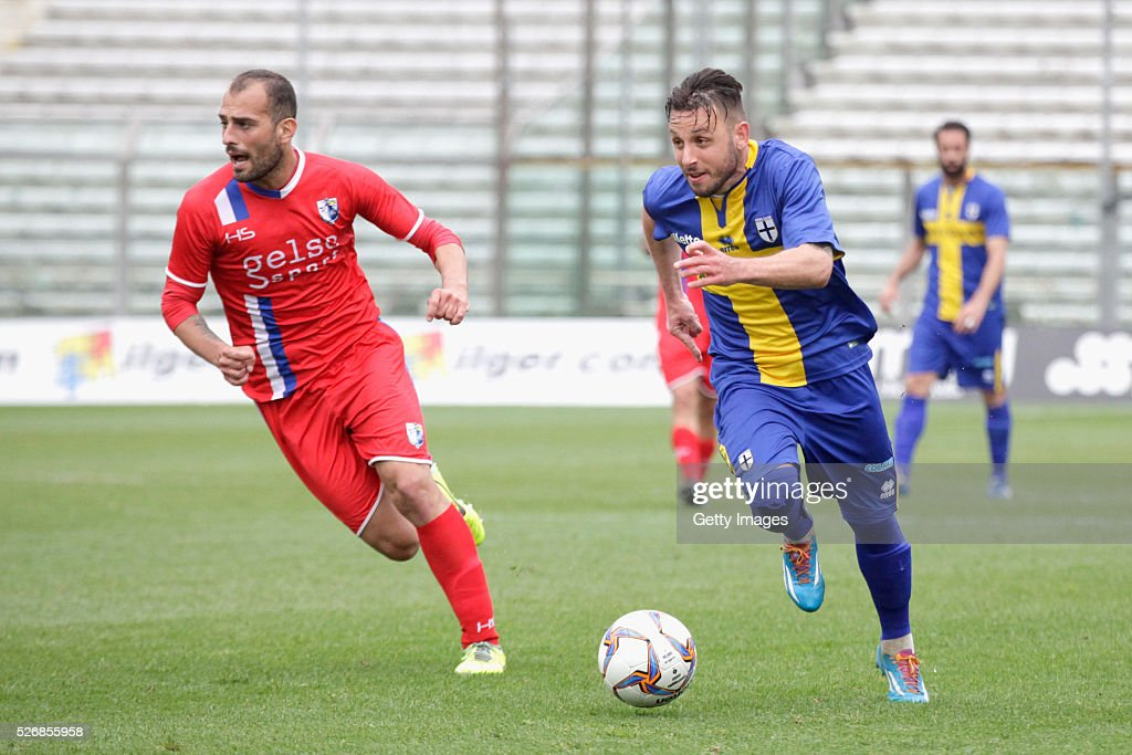 Fabio Lauria of Parma in action during the Serie A match between Parma Calcio 1913 and Bellaria Igea Marina at Stadio Ennio Tardini on May 1, 2016 in Parma, Italy.