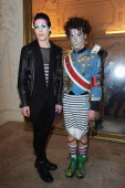 Fabio Leone and Davide Zingarelli attend the Jean Paul Gaultier show as part of Paris Fashion Week Haute Couture Spring/Summer 2014 on January 22...
