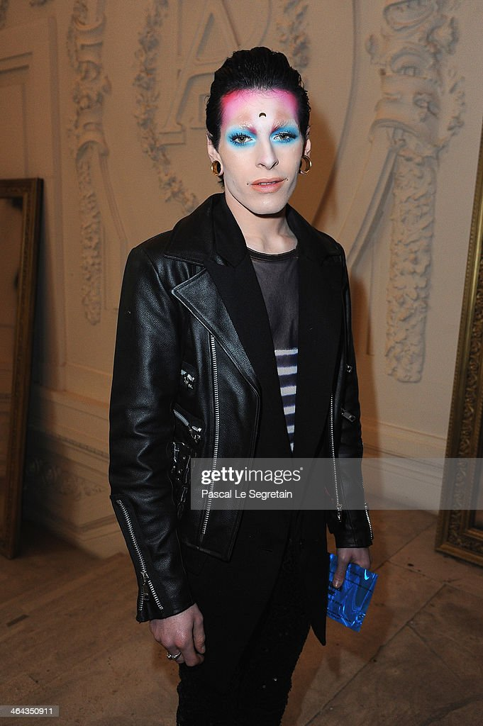 Fabio Leone attends the Jean Paul Gaultier show as part of Paris Fashion Week Haute Couture Spring/Summer 2014 on January 22 2014 in Paris France