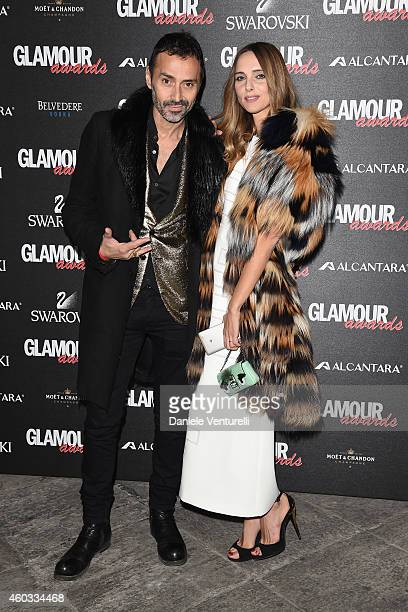 Fabio Novembre and Candela Novembre attend Glamour Awards 2014 on December 11 2014 in Milan Italy