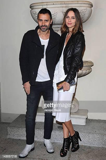 Fabio Novembre and Candela Novembre attend Roberto Cavalli Home during 2012 Milan Design Week at Palazzo Crespi on April 18 2012 in Milan Italy