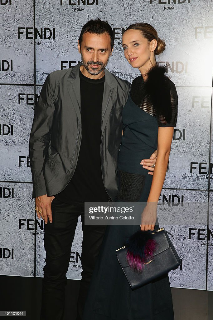 Fabio Novembre and Candela Novembre attend the Fendi show during Milan Menswear Fashion Week Spring Summer 2015 on June 23, 2014 in Milan, Italy.