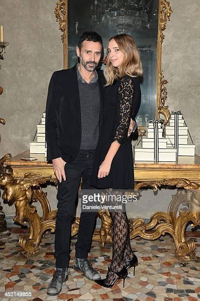 Fabio Novembre and Candela Novembre attend the 'Jo Malone London Scented' Dinner at Palazzo Crespi on November 26 2013 in Milan Italy