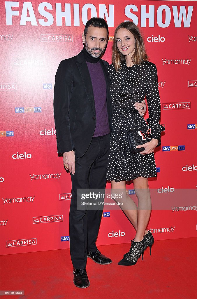 Fabio Novembre and Candela Novembre attend Yamamay Fashion Show cocktail party during Milan Fashion Week Fall/Winter 2013/14 at the Alcatraz on February 19, 2013 in Milan, Italy.