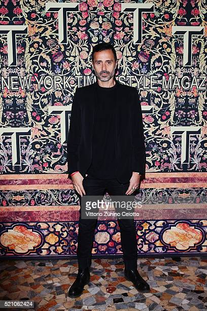 Fabio Novembre attend the T Celebration of Culture Issue And Milan Design Week at Palazzo Crespi on April 11 2016 in Milan Italy