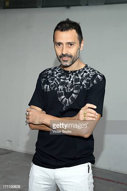 Fabio Novembre attends the Costume National Homme show during Milan Menswear Fashion Week Spring Summer 2014 on June 22 2013 in Milan Italy