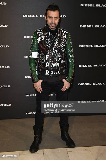 Fabio Novembre attends the Diesel Black Gold show during the Milan Menswear Fashion Week Fall Winter 2015/2016 part of on January 19 2015 in Milan...