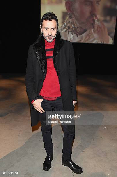 Fabio Novembre attends the Dsquared2 during the Milan Menswear Fashion Week Fall Winter 2015/2016 on January 16 2015 in Milan Italy