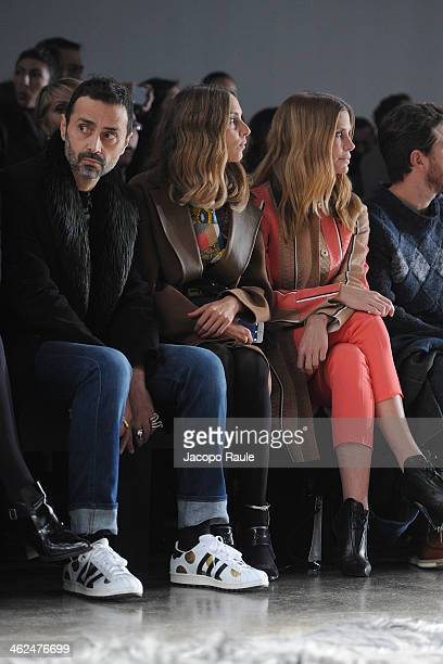 Fabio Novembre Candela Novembre and Filippa Lagerback attend the Fendi show as a part of Milan Fashion Week Menswear Autumn/Winter 2014 on January 13...