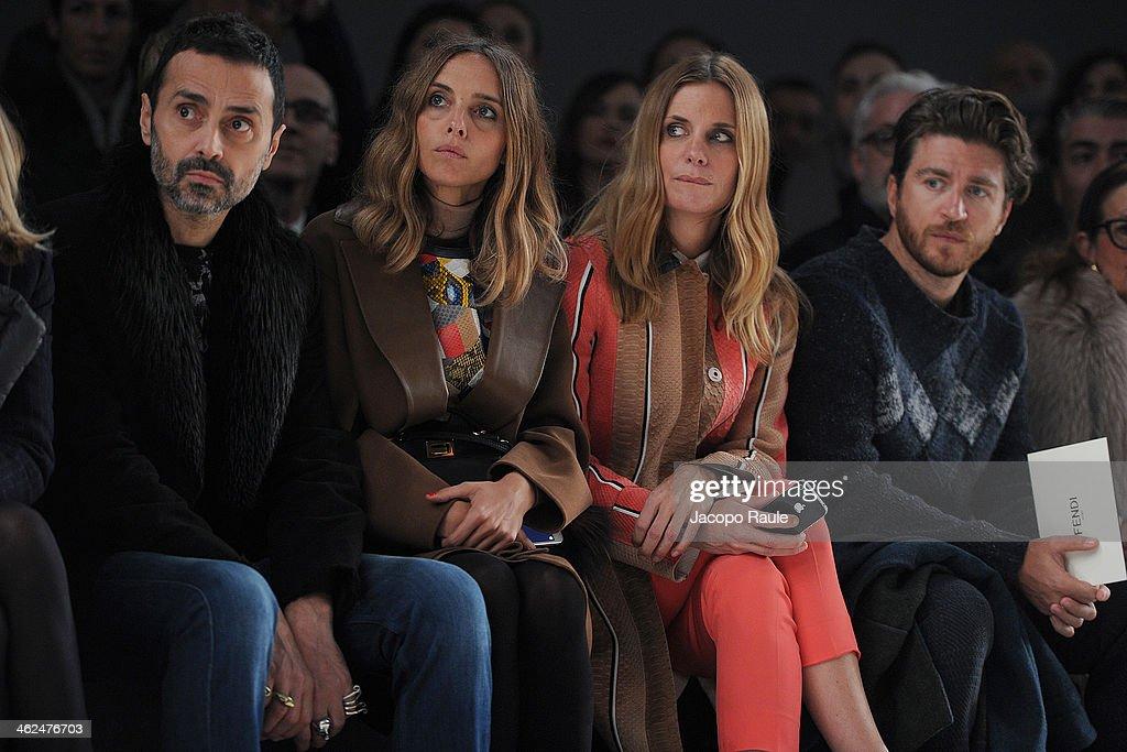 Fendi - Front Row - Milan Fashion Week Menswear Autumn/Winter 2014