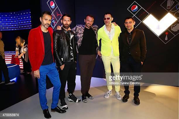 Fabio Novembre Nicola Formichetti Mauro Porcini Karim Rashid and Marcelo Burlon participate in the #PepsiChallenge Round Table At The PepsiCo 'Mix It...