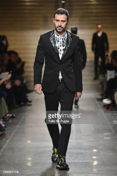 Fabio Novembre the runway during the Frankie Morello show as part of Milan Fashion Week Menswear Autumn/Winter 2013 on January 12 2013 in Milan Italy