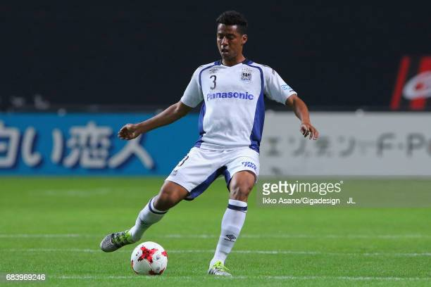 Fabio of Gamba Osaka in action during the JLeague J1 match between Consadole Sapporo and Gamba Osaka at Sapporo Dome on May 14 2017 in Sapporo...